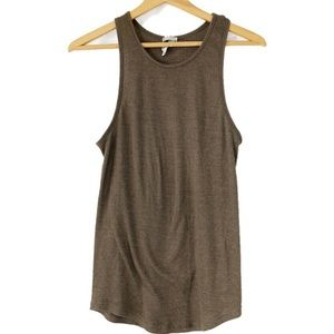 Free People brown tank top M